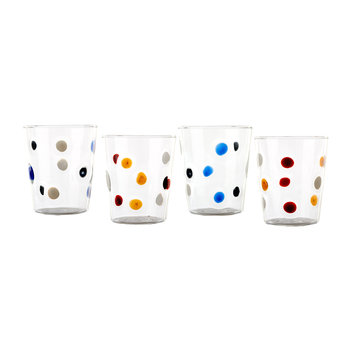 Lemonade Tumblers - Coloured Dots - Set of 4