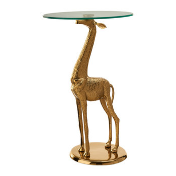 Gold Plated Giraffe Side Table