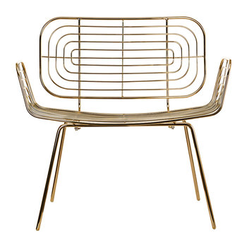 Boston Lounge Chair - Gold