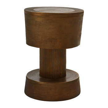 Bolt Stool - Antique Brass