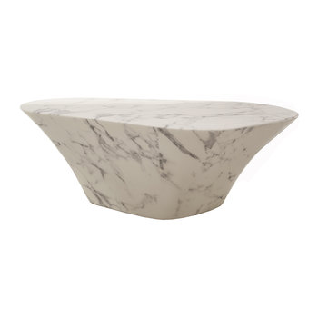Oval Coffee Table - Artificial Marble
