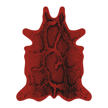 Snake Collection Vinyl Floor Mat - Red