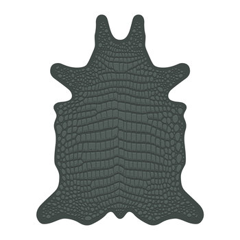 Croco Collection Vinyl Floor Mat - Green