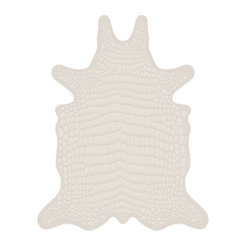 Croco Collection Vinyl Floor Mat - White