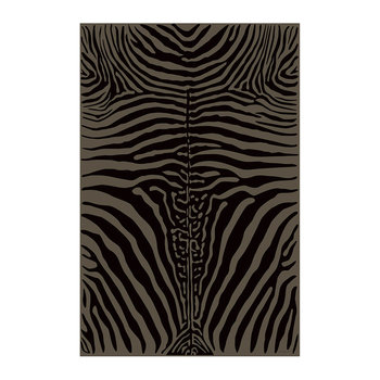Zebra Rectangular Vinyl Floor Mat - Brown - 99x150cm