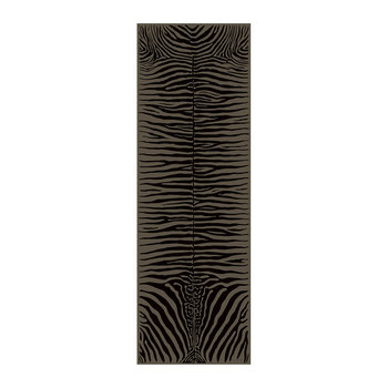 Zebra Rectangular Vinyl Runner - Brown - 66x198cm