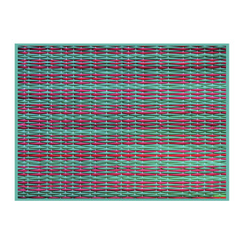 Braiding Vinyl Placemat - Green/Red