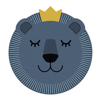 Blue Lion Face Vinyl Placemat