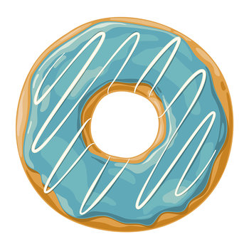 Ring Donut Vinyl Placemat - Blue