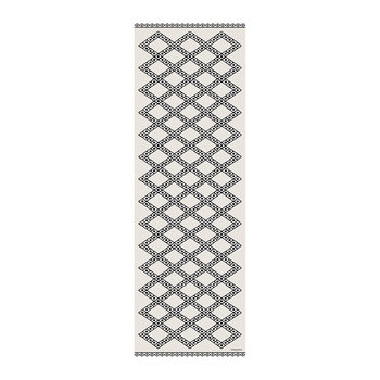 Kathmandu Small Diamonds Vinyl Runner - Black/White - 66x198cm