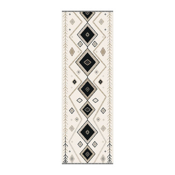 Kathmandu Abstract Vinyl Runner - Black/White - 66x198cm