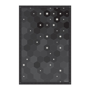 Hexagonal Tiles Vinyl Floor Mat - Black - 99x150cm
