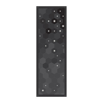 Hexagonal Tiles Vinyl Runner - Black - 66x198cm