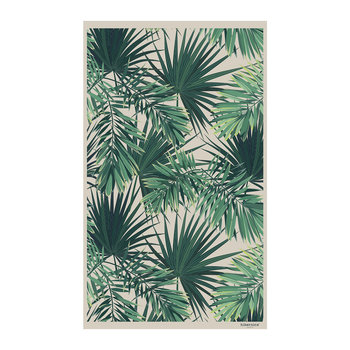 Jungle Vinyl Floor Mat - Beige/Green