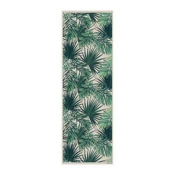 Jungle Vinyl Runner - Beige/Green - 66x198cm