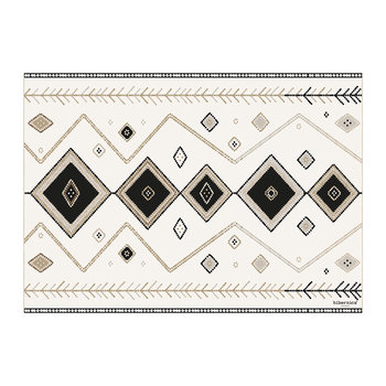 Kathmandu Abstract Vinyl Placemat - Black/White