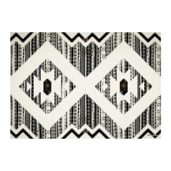 Kathmandu Striped Vinyl Placemat - Black/White