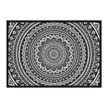 Kathmandu Abstract Flower Vinyl Placemat - Black/White