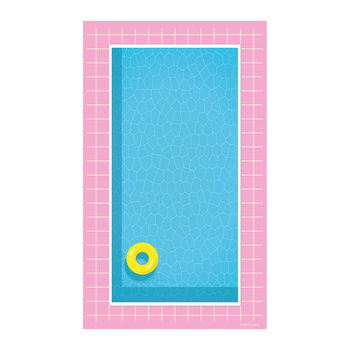 Summer Bounty Pool & Rubber Ring Vinyl Placemat