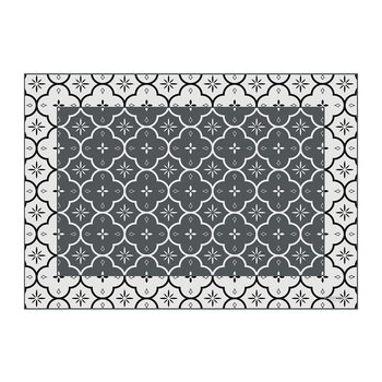 Small Ceramic Tiles Vinyl Placemat - Grey