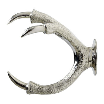 Brass Claw Wall Mount - Silver