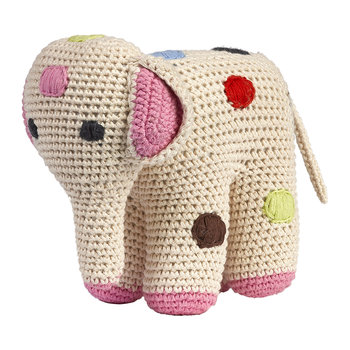 Crochet Elephant - Dotted