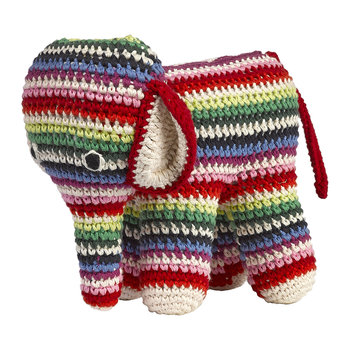 Crochet Elephant - Thin Multi Stripes
