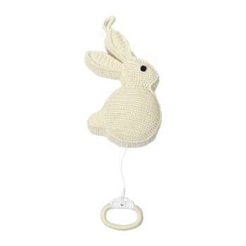 Crochet Rabbit Musical Toy - Nature