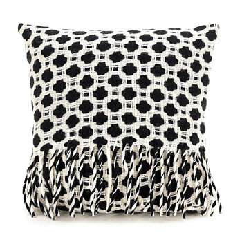 Crossroads Wool Cushion - 60x60cm - Black