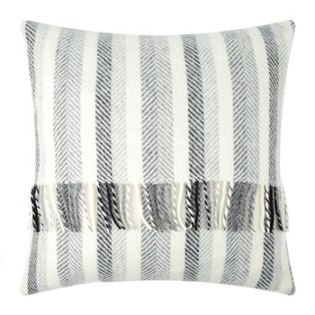 Stripes Wool Pillow - 60x60cm - Monochrome