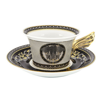 25th Anniversary Medusa Silver Teacup & Saucer - Limited Edition