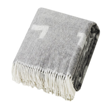 Iota Alpaca & Merino Wool Blanket - Light Gray