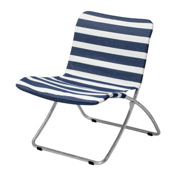 Lise Garden Chair - Dark Blue Stripes