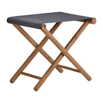 Teak Junction Stool - Charcoal
