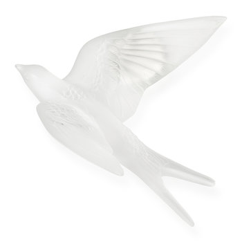 Hirondelles Swallow Wings Up Crystal Sculpture - Clear