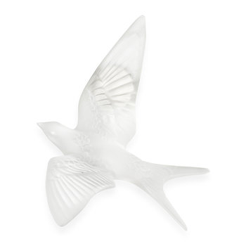 Hirondelles Swallow Crystal Sculpture - Clear