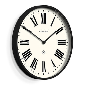 Number One Italian Wall Clock - Black