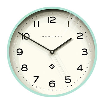 Number Three Echo Wall Clock - Aquamarine