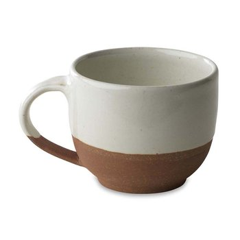Mali Terracotta Coffee Mug - White
