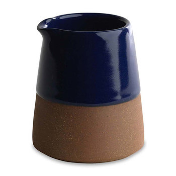 Mali Terracotta Slanting Milk Pitcher - Navy