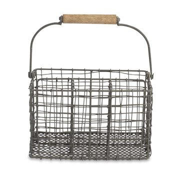 Tilmo Cutlery Basket - Distressed Grey