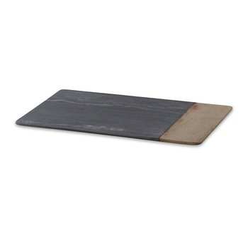 Bwari Long Marble & Mango Wood Serving Board - Grey