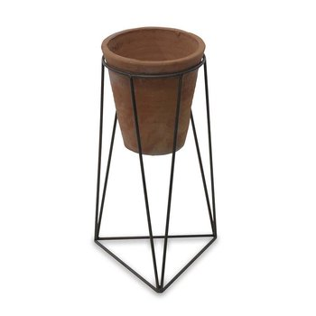 Jara Terracotta Planter & Iron Stand