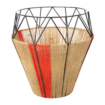 Thin Base Rope Lantern - Natural