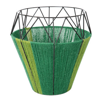 Thin Base Rope Lantern - Green