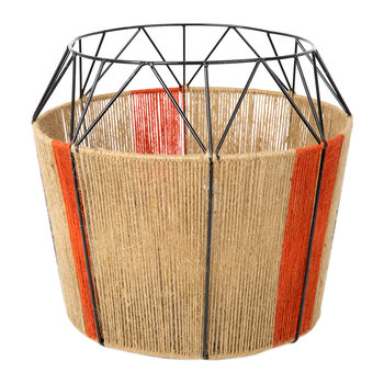 Wide Base Rope Lantern - Natural