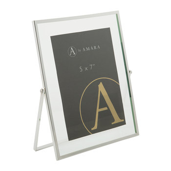 Silver Support Photo Frame - 5x7""