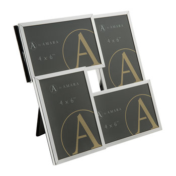 Silver Combo Multi Photo Frame - 4x6""