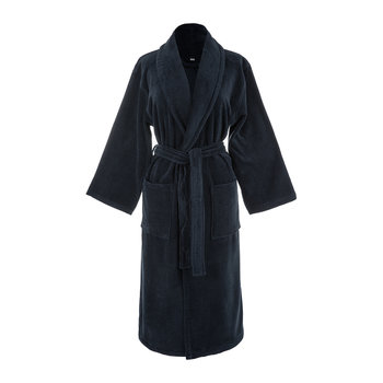 Navy Velour Bathrobe