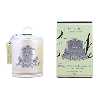 Gourmandize Silver Scented Candle - Persian Lime & Tangerine - 450g